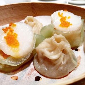 ravioli saint-jacques et dumpling à la shanghaienne