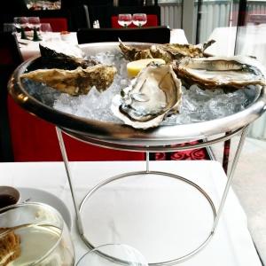 huîtres brasserie l'Alsace Champs ELysées