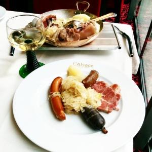 choucroute royale brasserie l'Alsace Champs ELysées