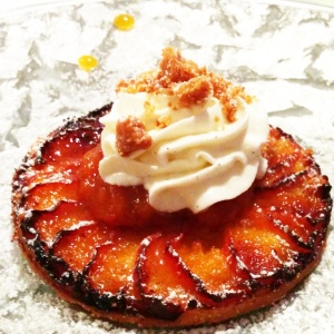 dessert la Ribaudière tarte abricot